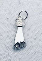 Sterling silver good luck hand fist pendant Charm