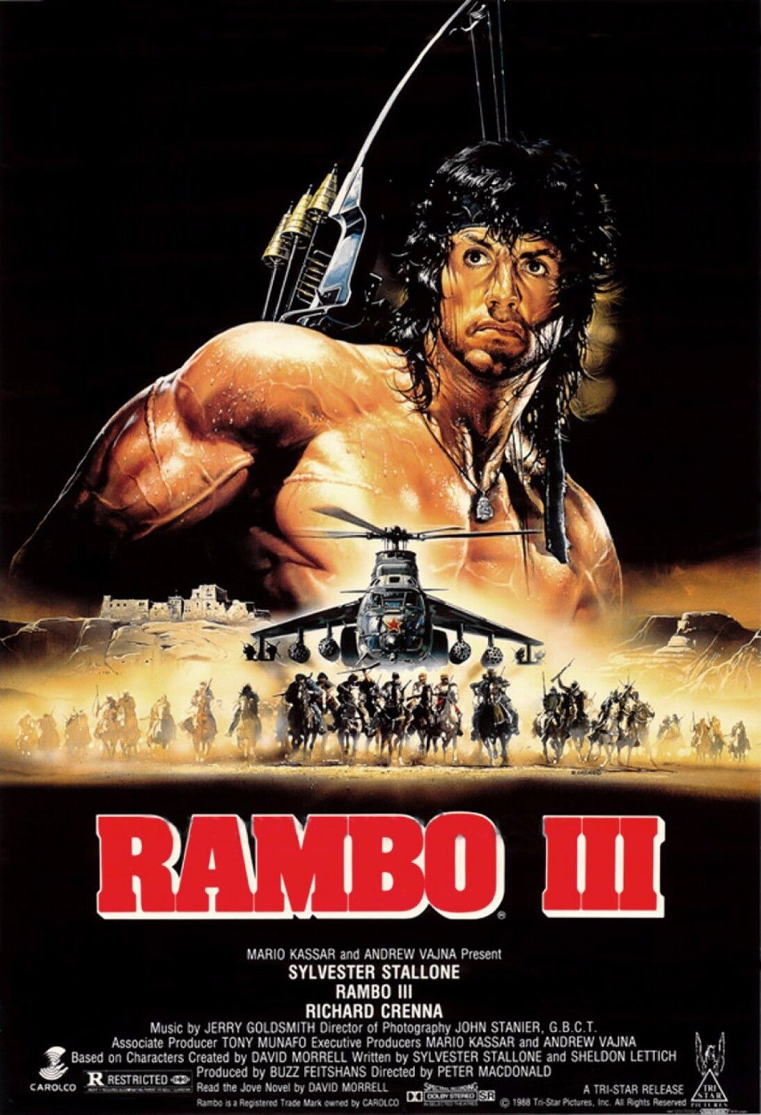 First Blood Rambo Sylvester Stallone movie poster 24x33 inches 1982