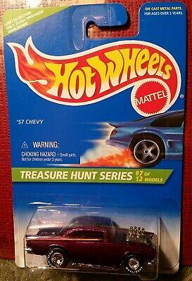 Hot Wheels 1996 Treasure Hunt 434 '57 Chevy Exposed Engine Goodyear Real Riders