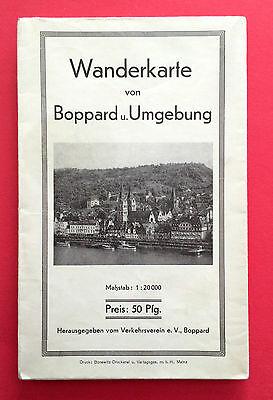 alte Wanderkarte von Boppard und Umgebung Maßstab 1 : 20000 ( F14105