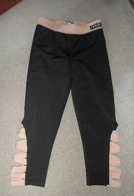 2 X PAIR OF HAUS SIZE XS FITNESS LEGGINGS  VERY GOOD CONDITION 1 BROWN & 1 BLACK
