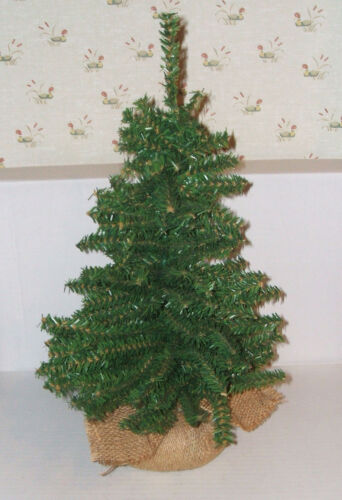 """Tabletop Decorative Green Artificial Christmas Tree 19"""" Tall with Base GREAT!"""