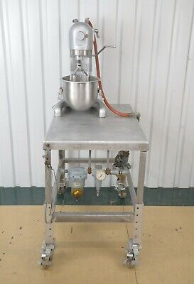 Hobart Model C-100 10qt Mixer W Modified Pneumatic Power Source Metal Table