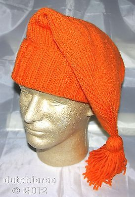 Hand Made Knitted Voyager Hat - Hunter Orange (French/Mountain Man) **NEW**