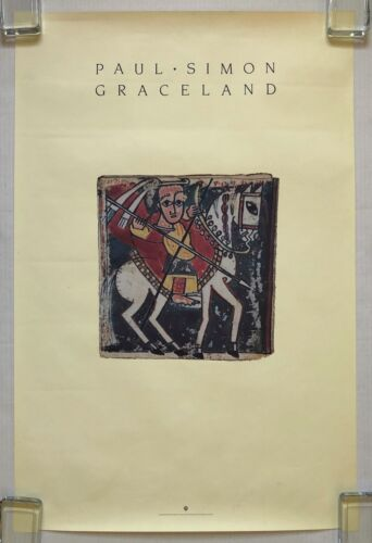 PAUL SIMON Graceland 1986 US PROMO Only POSTER You Can Call Me Al TEXTURED VG++