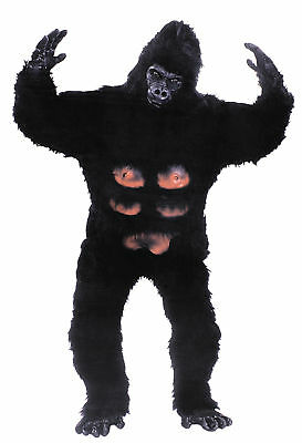 Gorilla Professional Mascot Adult Mens Costume Ape Animal Jungle Party Halloween - Professional Halloween Costumes