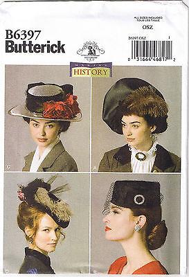Historic Victorian WWI Era Vtg 40s Hats Costume Millinery Pillbox Sewing Pattern (Era Costumes)