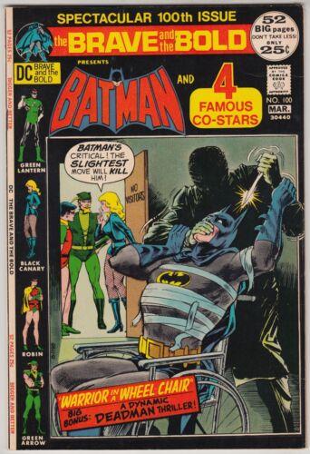 BRAVE & BOLD #100 DC COMICS VF CONDITION BATMAN