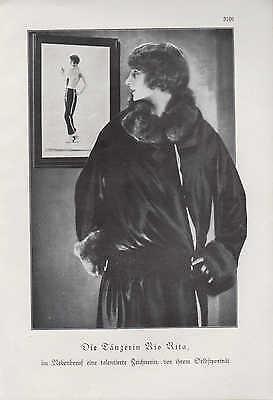 Werbung 1929, Bildnis Portrait Fotografie der Tänzerin und Zeichnerin Rio Rita