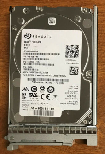 "Seagate 10K 1.8TB 10000RPM SAS 12.0 GB/S 256MB Cache 2.5"" HDD (ST1800MM0129)"
