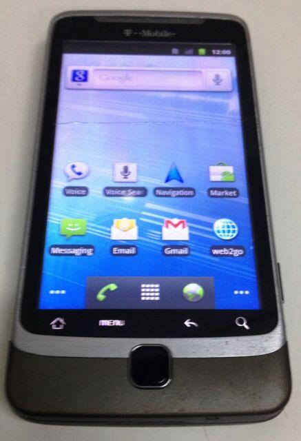 HTC G2 - 4GB - Titanium (T-mobile) Smartphone Hairline Crack