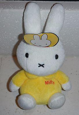 "NWT Dick Bruna MIFFY Bunny Rabbit Yellow Dress w/ Name 9"" Plush Stuffed Animal"