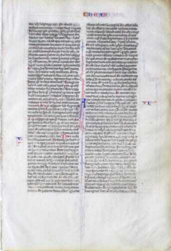 Early beautiful Bible lf.top condition,ca.1250,Micah chapter 4-Nahum chapter 1