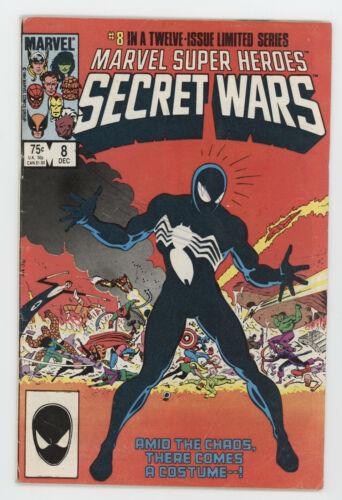 Marvel Super Heroes Secret Wars 8 1984 VG 1st Black Costume Venom Symbiote
