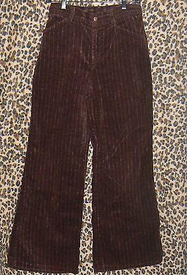 Vintage 70s Sears EPIC corduroy flare pants brown striped wide leg