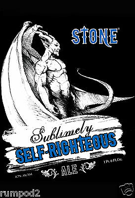 Beer Poster micro brew 'Stone Sublimely Self Righteous Ale'