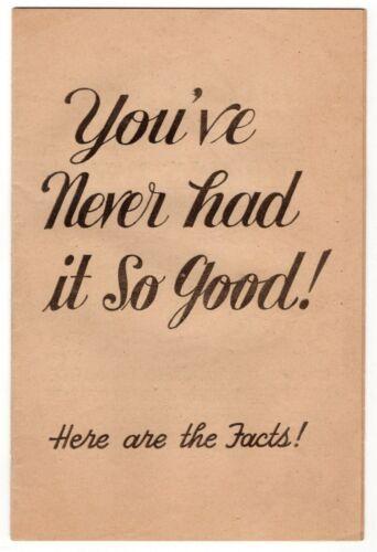 "1952 GOP Eisenhower Campaign Booklet: ""You"