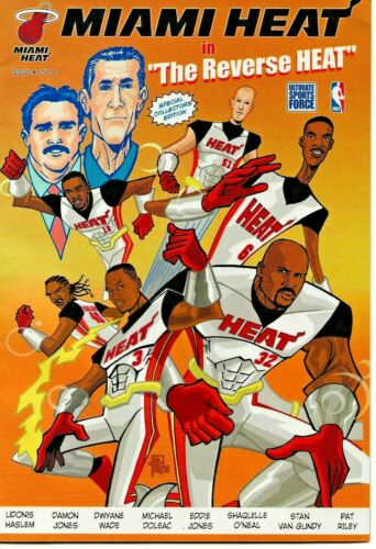 "RARE MIAMI HEAT ""REVERSE HEAT"" COMIC BOOK #1 2005 LIMITED COLLECTOR EDITION NBA"