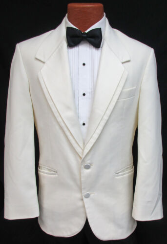 Mens Oscar de la Renta Ivory Off-White Tuxedo Dinner Jacket Wedding Cruise Mason
