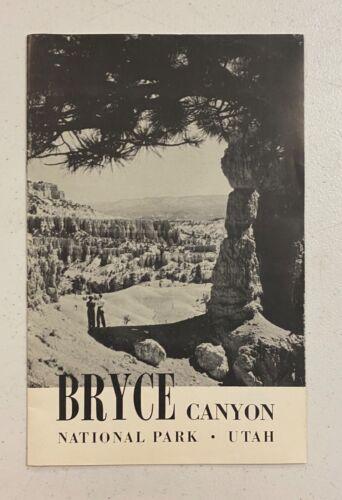 Vintage Bryce Canyon National Park Utah 1940s Travel Brochure Info Clean