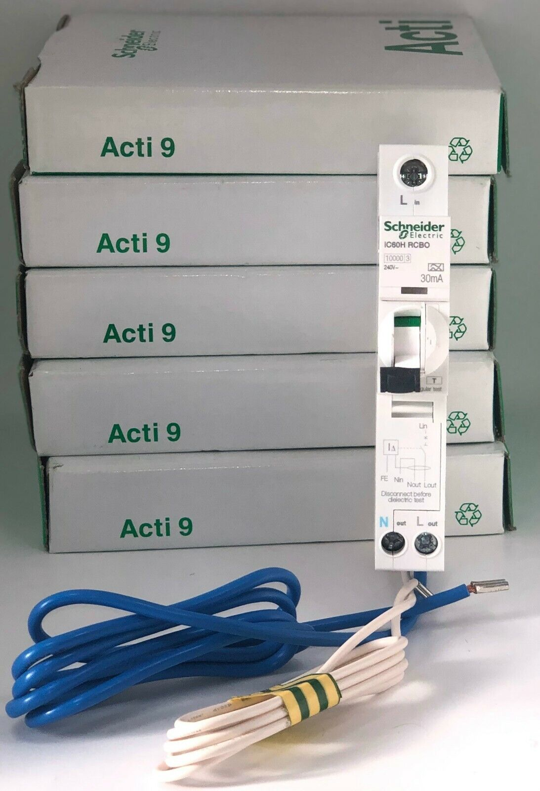 SCHNEIDER 20 AMP TYPE B 20A A9D31820 ACTI9 iC60H 30mA MERLIN GERIN RCBO RCD