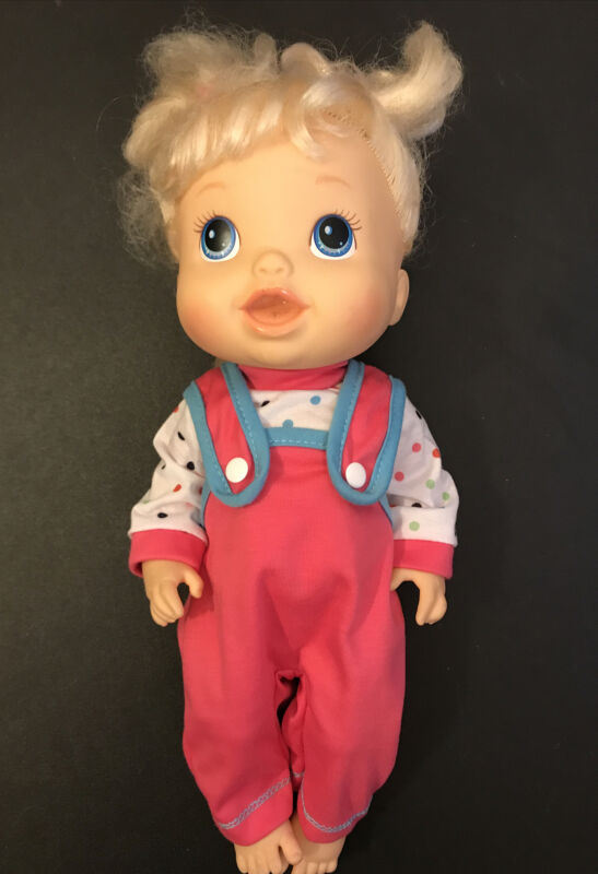 "14"" Inch Baby Alive Doll Clothes Polkadot Top & Pink Overalls Pants"