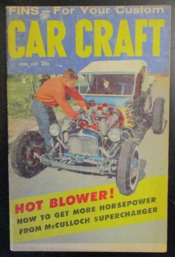 Car Craft Magazine April 1957