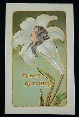 Early 20th Century Easter Postcard - Embossed - Good Condition - Easter Goods