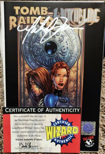Tomb Raider / Witchblade #1 Signed by MICHAEL TURNNER