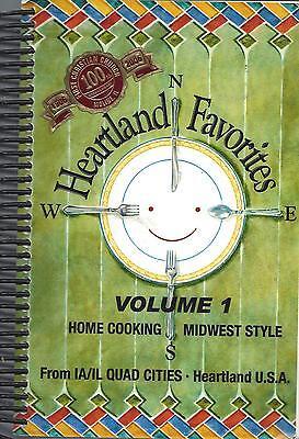 *MOLINE IL 2005 HEARTLAND FAVORITES VOL I COOK BOOK QUAD CIT