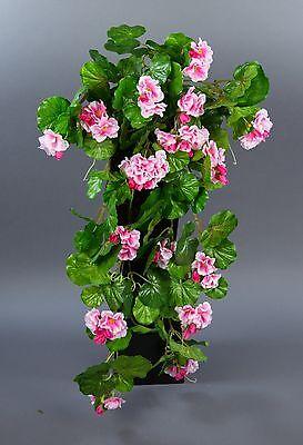 Geranienhänger 70cm rosa ZF - künstliche Geranie Hängegeranie Kunstpflanzen