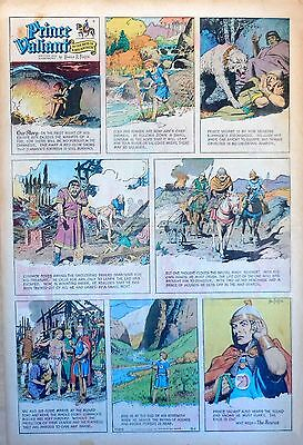 Prince Valiant by Hal Foster - scarce full page Sunday comic - March 1, 1970
