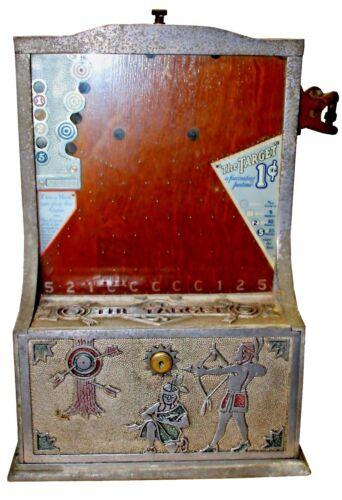 "Antique 1926 O.D. Jennings 1 Cent Trade Stimulator ""The Target"""