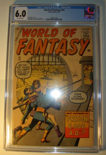 World of Fantasy #16 CGC 6.0 FN 1959, Steve Ditko, Jack Kirby, Sinnott, art