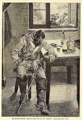 Th.Rocholl ( In Feindesland ) Militärische Graphik von 1901