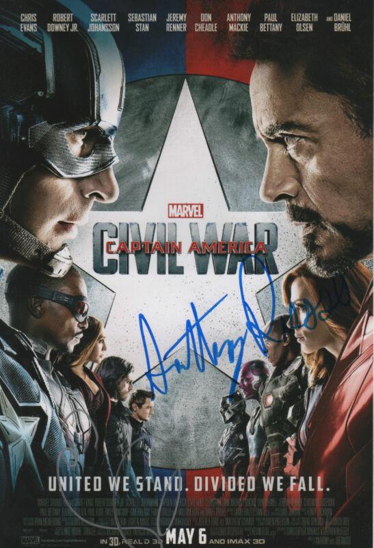 "Civil War ""Emily VanCamp & Antony Russo"" Autogramme signed 20x30 cm Bild"