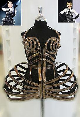DaNeeNa T029 Cone Bra Pointy Corset Cage Leather Madonna Costume XS-XL - Madonna Cone Costume