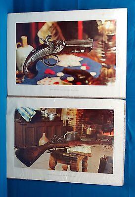 Lot of 3 Artworks, 1 Original Mixed Media and 2 Prints, Musket & Deringer