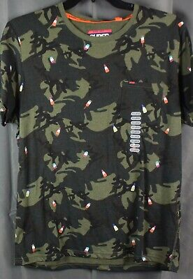 SUPERDRY Men's Short Sleeve Camouflage T-Shirt. Green 2XL NEW