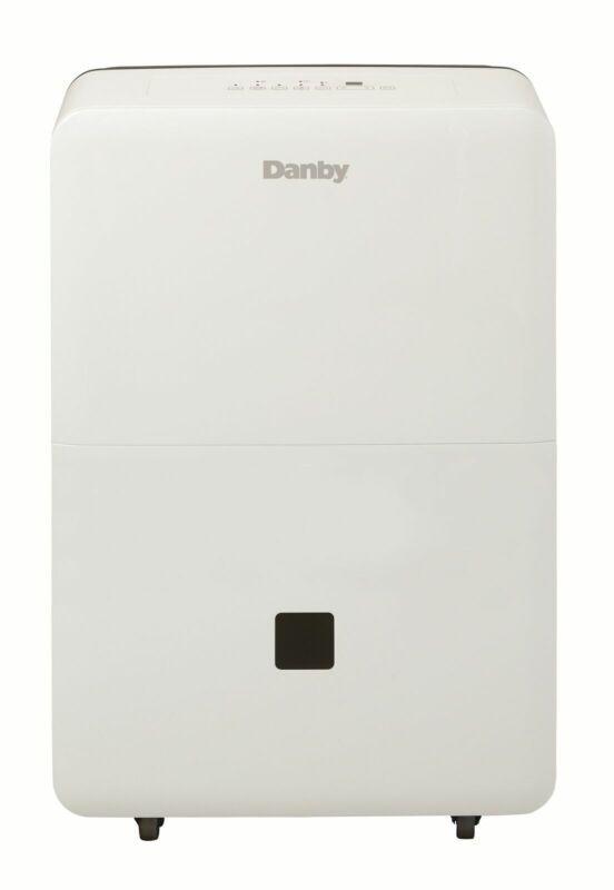 Danby 50-Pint 2-Speed Portable Dehumidifier w/ Auto De-Icer