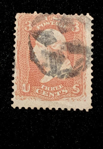 US Stamps 65 Washington 3c Fancy Cancel VF Details - $0.99