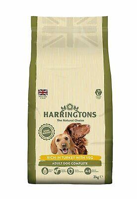 Harringtons turkey + veg 2kg complete dog food - natural ingrediants