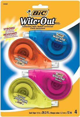 Bic Wite-out Brand Ez Correct Correction Tape 4-count
