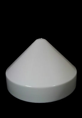 "Marine Dock 9"" Piling Cone Cap Boat Pylon Edge Post Head White Cover"