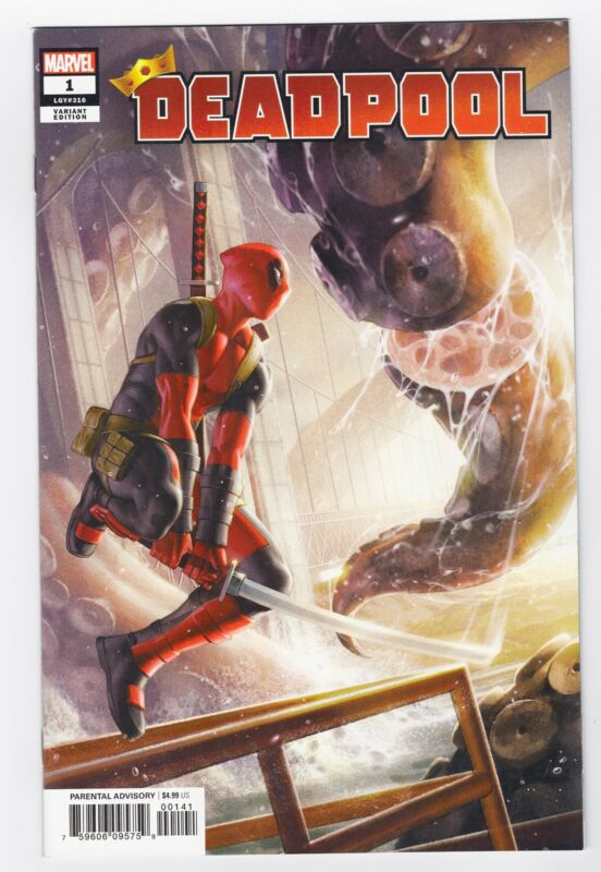 DEADPOOL #1 NM/VF YOON 1:50 INCENTIVE VARIANT COVER MARVEL COMICS 2019