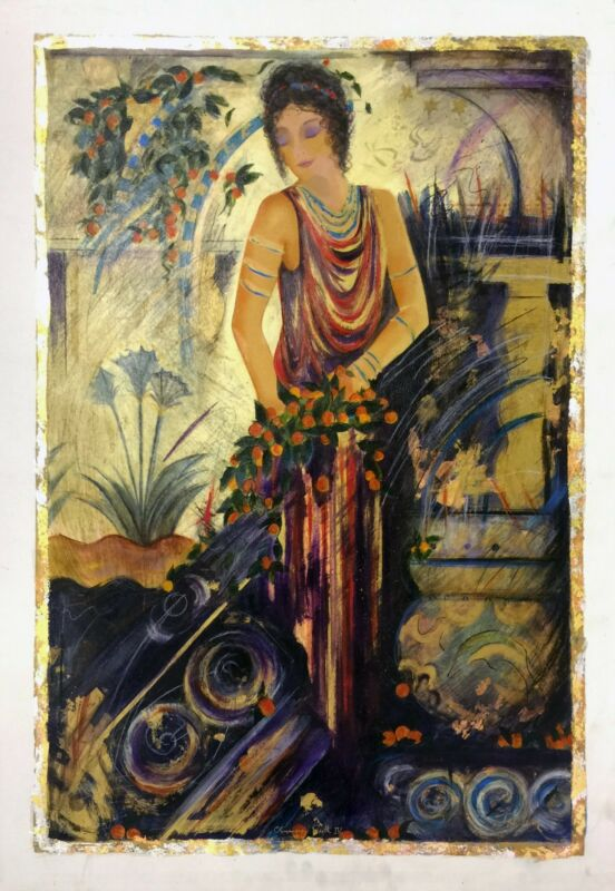 "Janet Treby ""olympian Myth Iv"" | Signed Embellished Canvas | 36x24"" | Gallart"