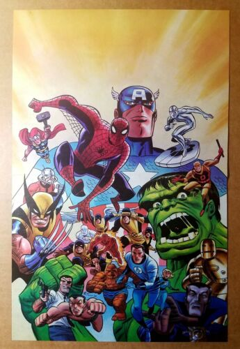 Fantastic Firsts Hulk Thor Wolverine Namor X-Men Marvel Poster by Bruce Timm