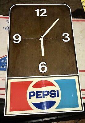 Vintage Pepsi Electric Clock For Parts Or Repair