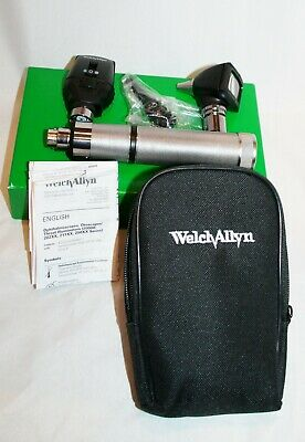 Welch Allyn Otoscope Opthalmoscope Diagnostic Set 3.5v Handle