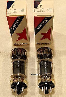 SOVTEK Factory Platinum Matched PAIR TWO  5881 NIB 6L6 WGC tubes 24 Hr Burn-in